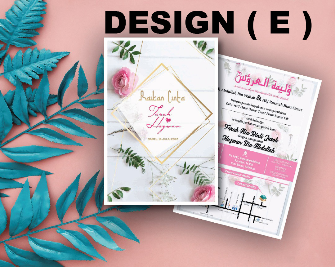 Kad Kahwin Artcard 250gsm Wedding Photography Videography And Commercial Production